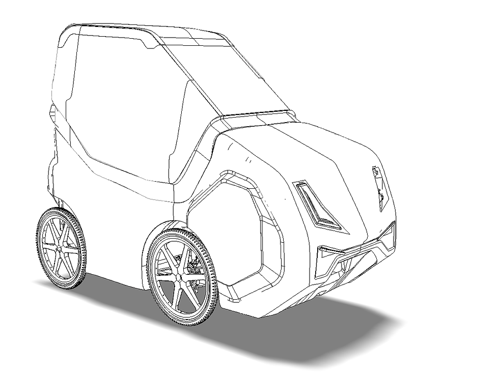 DryCycle Fully Enclosed Electric Assist Pedal Cycle