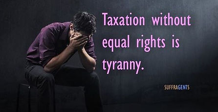 Abused Man - Taxation without equal rights is tyranny