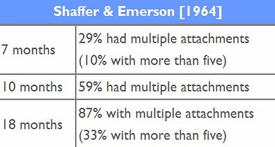 Shaffer & Emerson Attachment Theory