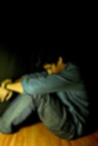 Sad, depressed, abused Man