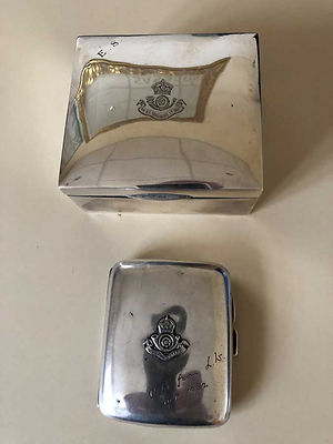 Military Medals and Books Bedford - Silver Boxes K O Y L I