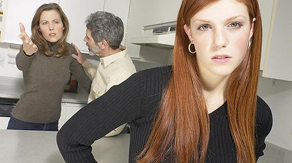 Teen Girl Witnessing Parents Fighting