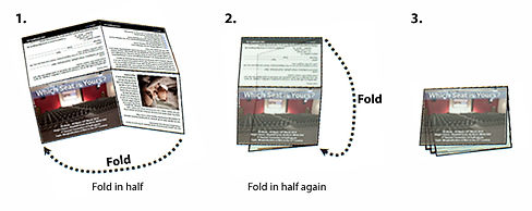 How to fold A4 sheet into quarters