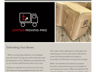 How Boxes are Estimated when Moving with a Professional Mover