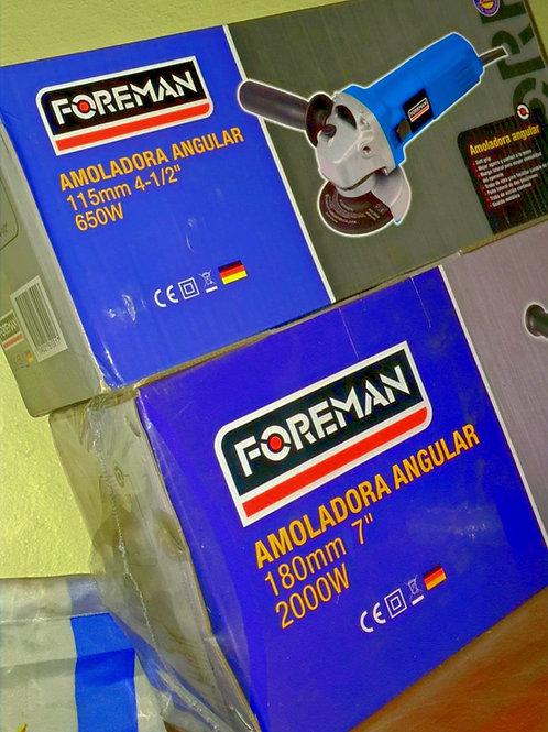 """AMOLADORA ANGULAR 4 1/2"""" FOREMAN 650w"""