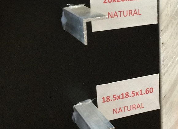 """Perfil """"L"""" 18.50 x 18.50 x 1.60mm"""