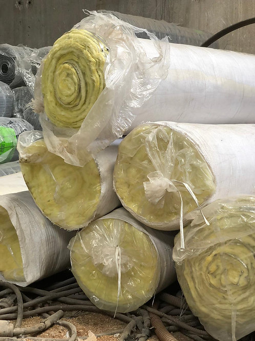 """Rollo Lana de Vidrio C/Alum. 15m x 1,20m (2"""" esp)"""