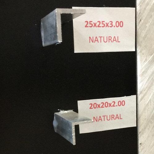 """Perfil """"L"""" 25 x 25 x 3.00 2.605Kg"""