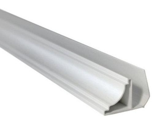 Media caña terminación PVC x 6000mm Blanco