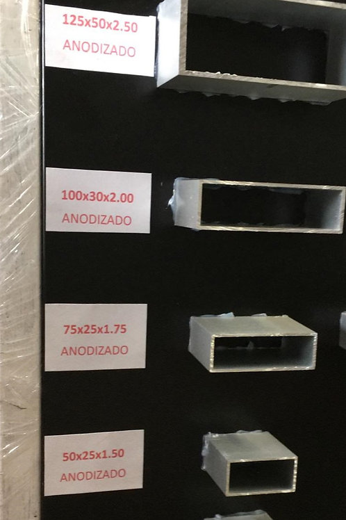 Tubo rectangular 75 x 25 x 1.75 6.312Kg