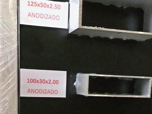 Tubo rectangular 125 x 50 x 2.50mm