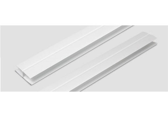 H terminación PVC x 6000mm Blanco