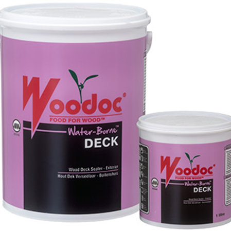 WOODOC WATER-BORNE DECK EXTERIOR | LOW-GLOSS/MATT | CLEAR | TINTED