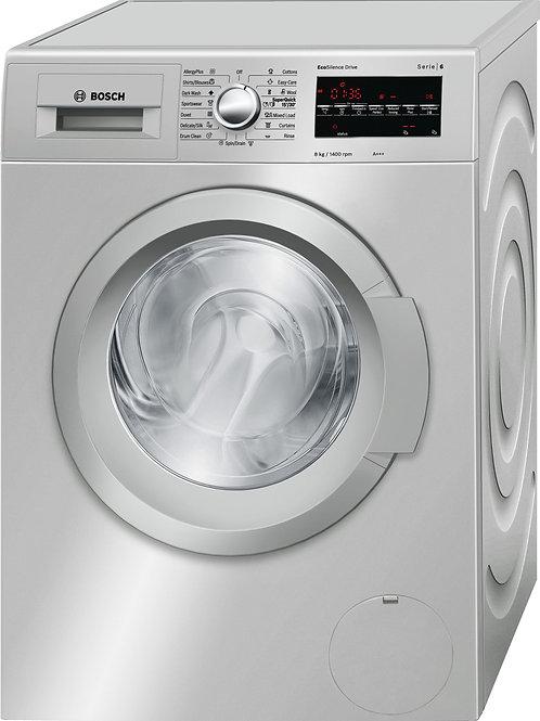 Serie   6 Washing Machine, Front Loader 8kg Silver Inox, 1400 rpm (WAT2846XKE)