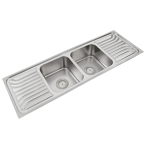 Double Bowl Sink with Double Drainboard | 318A