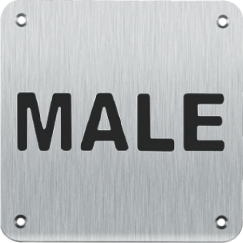 Sign Plate - Male (SBWMS)