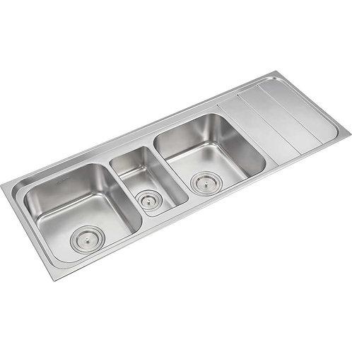 Three Bowl Sink with Single Drainboard | 327