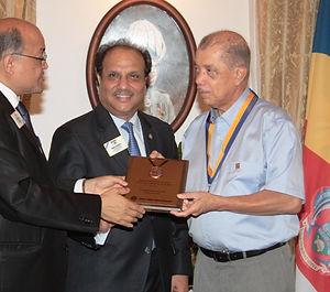 President Michel Lion award.JPG