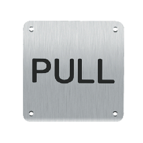 Sign Plate - Pull (SBWPLS)