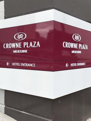 Crowne Plaza Building Signage Melbourne.