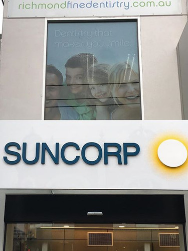 Suncorp Bank Fabricated Signage Melbourn