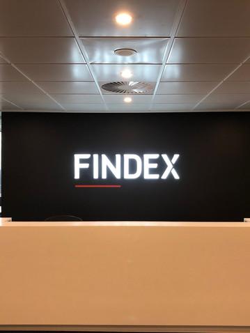 Findex Melbourne Illuminated Signage Mel