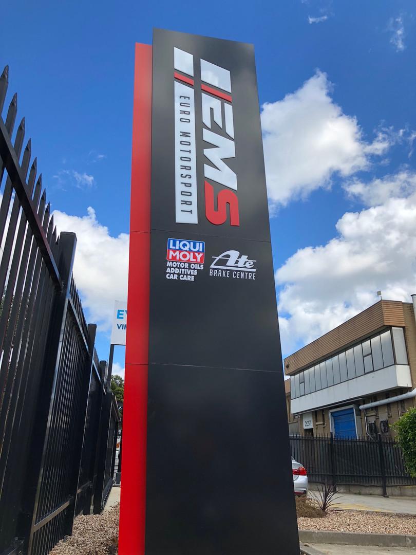 EMS Pylon Signage Melbourne