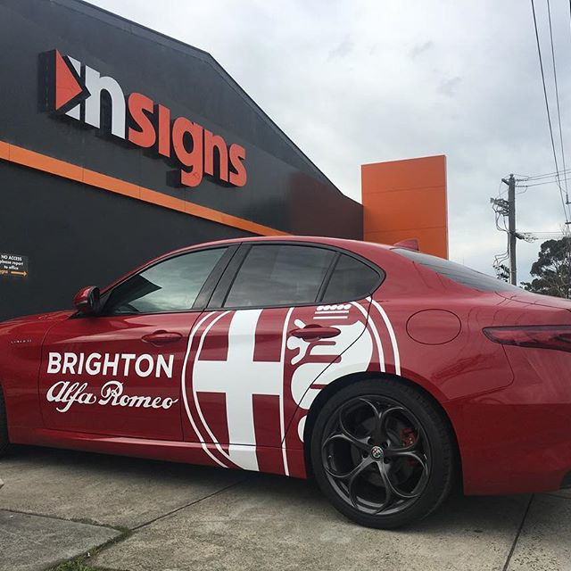 Brighton Alfa Romeo Vehicle Signage Melb