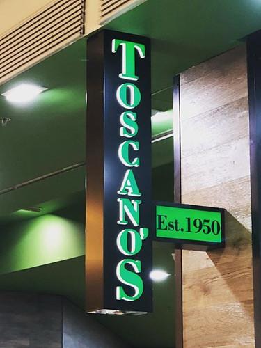 Toscanos Illuminated Fabricated Signage.