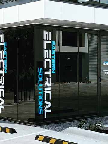 Eastern Electrical Window Signage Melbou