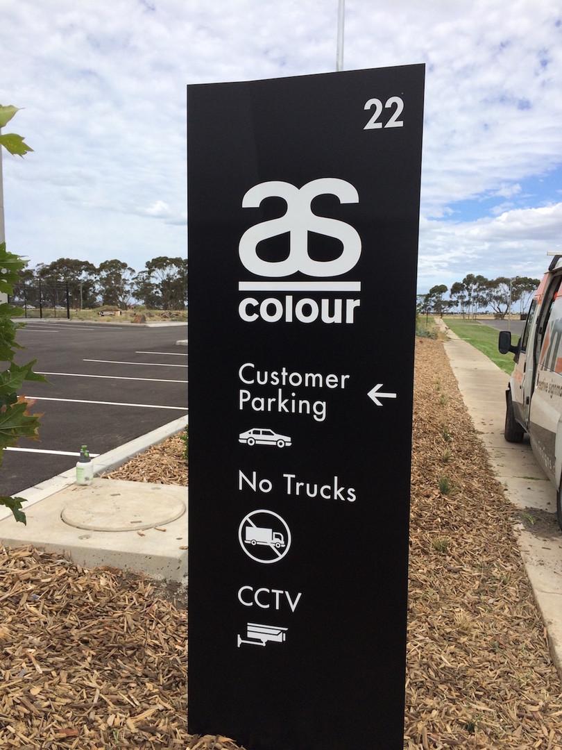 As Colour Totem Signage Melbourne