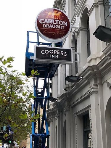 Coopers Inn Signage Installation.jpg