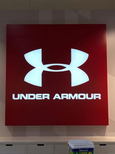 Under Armour Illuminated Signage Melbour