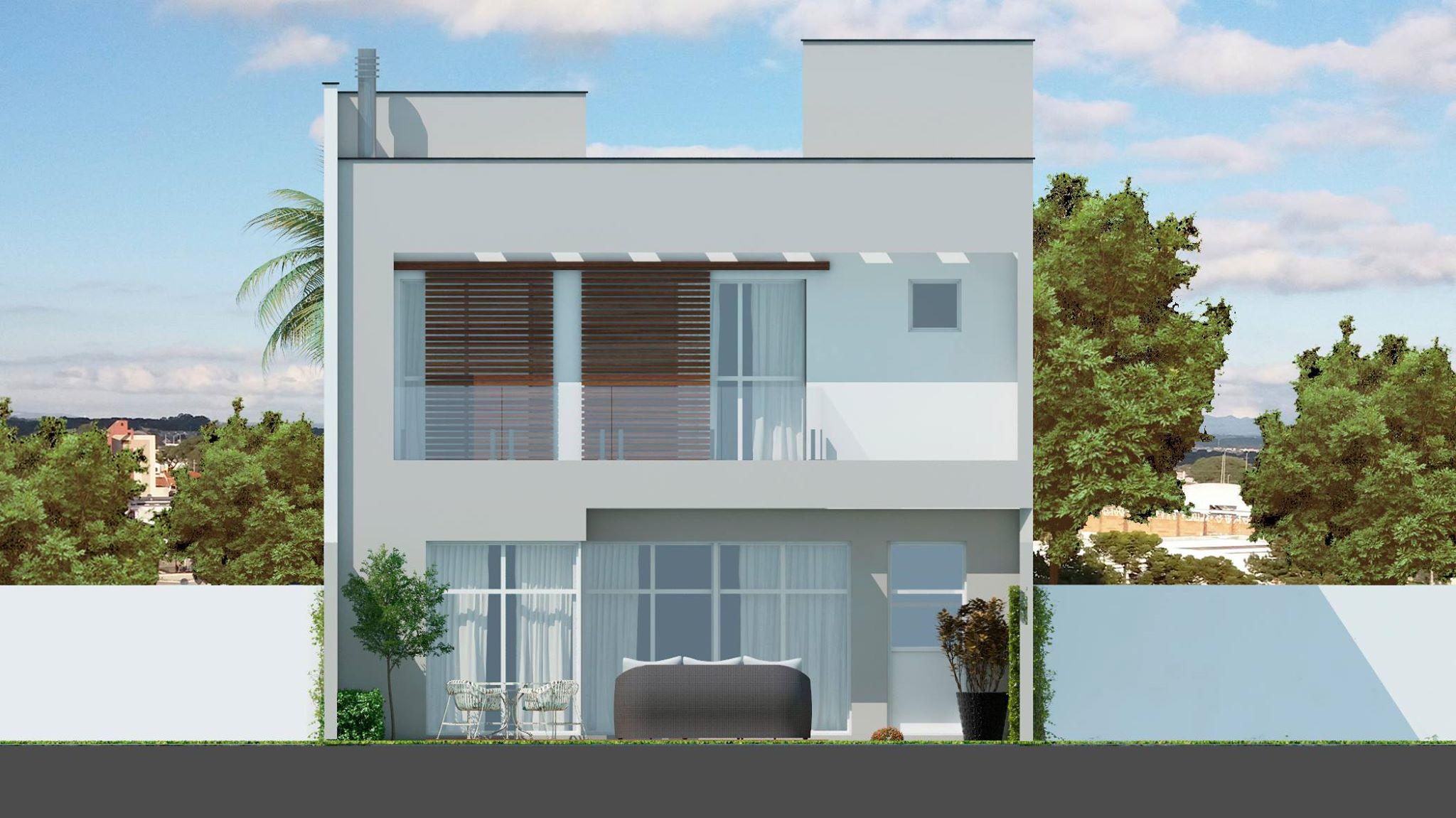 Elevação fachada posterior