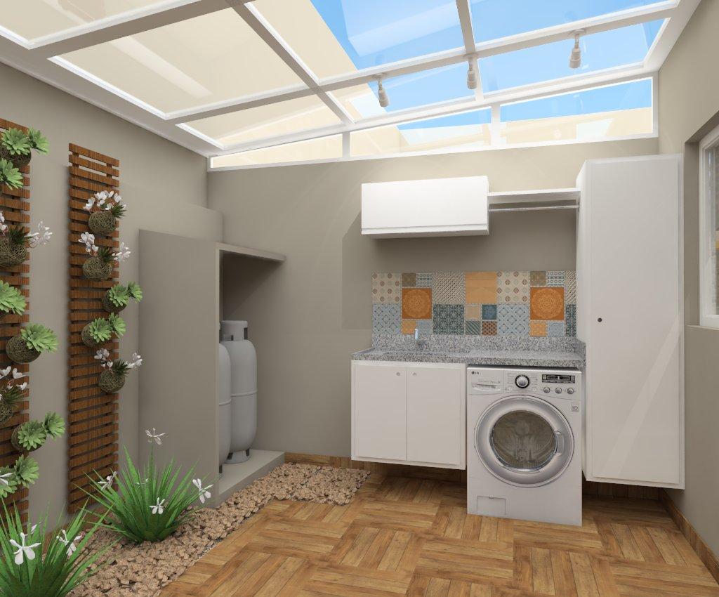 área externa e lavanderia