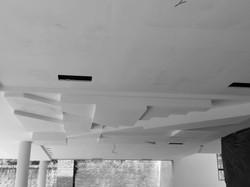 arte geométrica no teto
