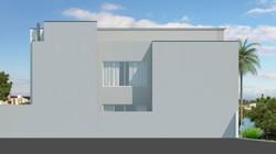 Elevação fachada lateral esquerda