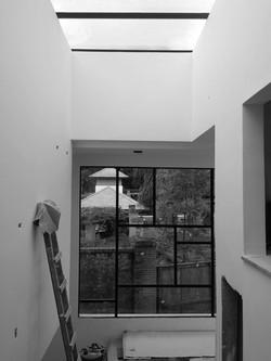 vazio escada com zenital