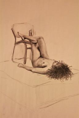 30 Minute Female Figure Drawing, charcoa