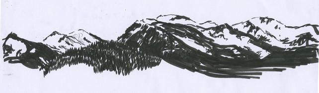 Cairngorn Panoramic, 2016, Pen