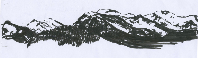 Cairngorn Panoramic, 2016, Pen