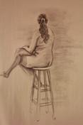 15 Minute Female Figure Drawing, charcoa