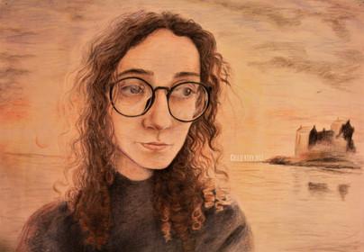 Self Portrait, 2017, coloured pencil
