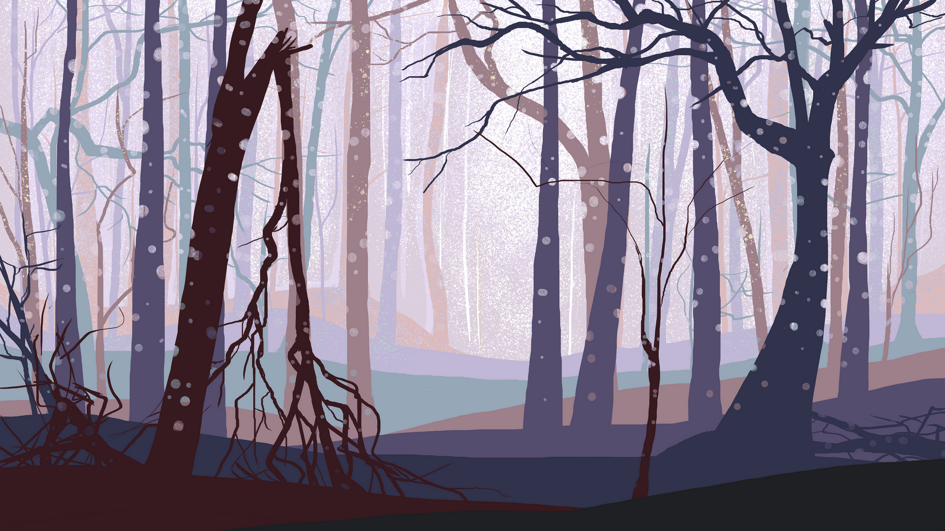 Whole Punch Background painting