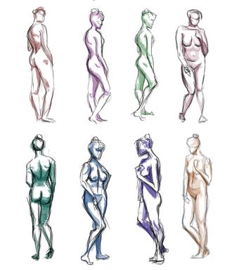 Female Figure Study, Digital, 2020.png