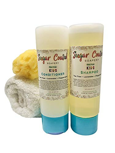 Tear-free Kids Shampoo and Conditioner Set with Tea Tree Oil | Natural Baby Bath