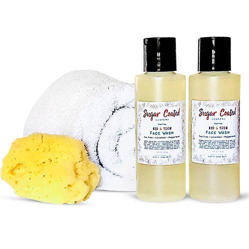 Kids Face Wash Face Cleanser (Kid/Teen) -Tear Free Soap-Gentle Facial Kids Acne