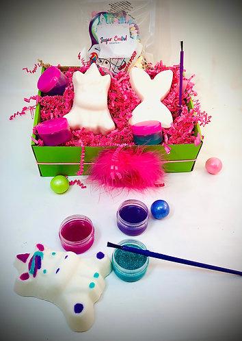 Unicorn & Mermaid DIY Paint Your Own Bath Bomb Gift Set for Kids / Teens - Craft