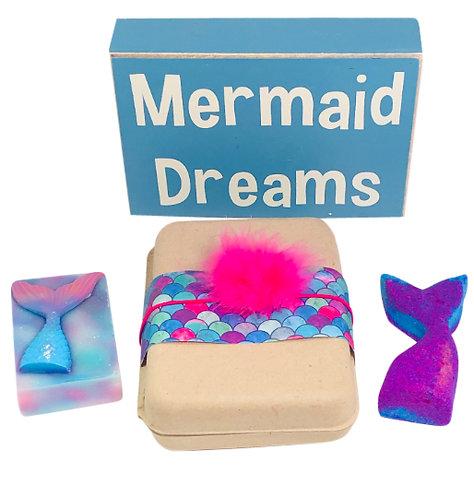 Bath Bombs for Kids- Spa Gift Set for Girls & Teens-(MERMAID) Bath Fizzies & Kid