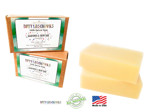 2 Pack - Children's Shampoo & Body Bar Soap